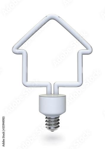 Energy bulb house