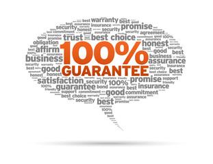 Speech Bubble - 100% Guarantee