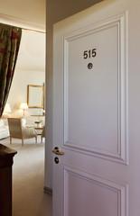 Interior luxury hotel, door open