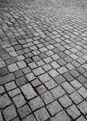 Old cobble stone street texture or background