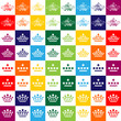 collection of crown icons