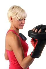 Attractive woman exercising