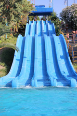 slide in the water park