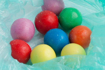 colored candy.