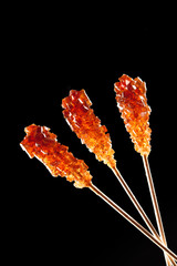 candy brown sugar on a stick
