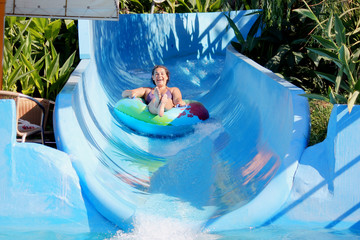 woman in the water park