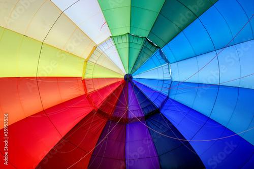 Fotobehang Ballon Arc-en-ciel