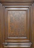 nostalgic wooden door detail poster