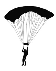 Sky Diver with parachute