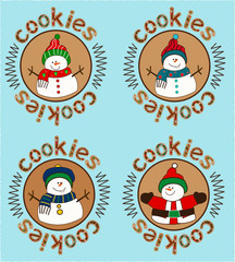 gingerbread sticker set