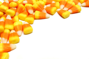 Halloween candy corn border