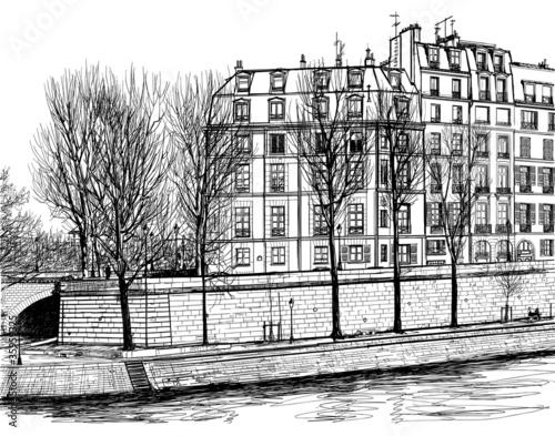 Ile Saint Louis in Paris - 35959325