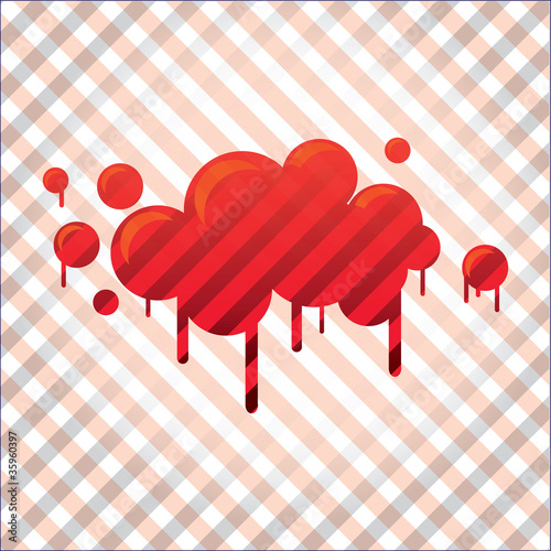 bloody spot in stripes background - illustration