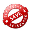 """SAVE"" Marketing Stamp (special offer sticker price tag savings)"