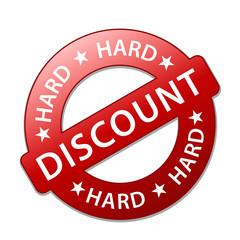 """Tampon Publicitaire """"HARD DISCOUNT"""" (soldes prix offre spéciale)"""