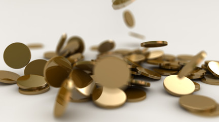 Gold coins fall