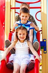 Children on the chute