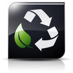 Symbole glossy vectoriel recyclage
