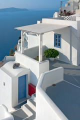 Patio in Santorini, Greece