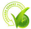 prendre rendez vous sur symbole 3d vert