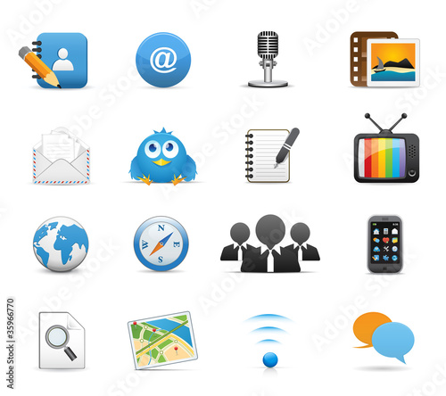 Icons Set for Web Applications, Website & Social Media Icons