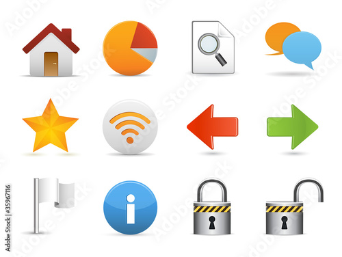 Internet & Website icons, Universal icons Set - Vector
