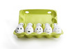 Group of eggs with smiling faces representing a social network