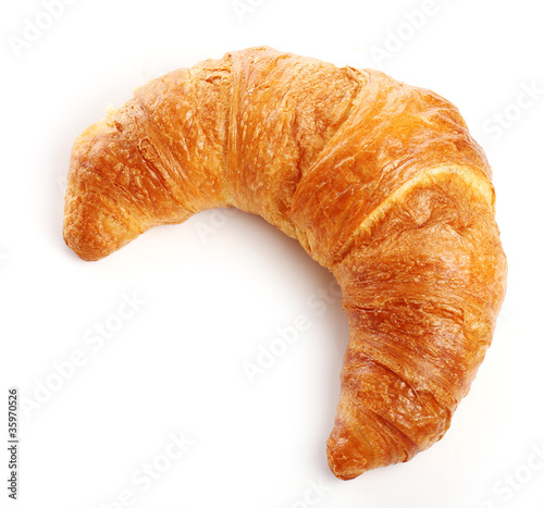Leinwanddruck Bild Croissant over white background