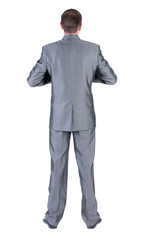 businessman . Rear view