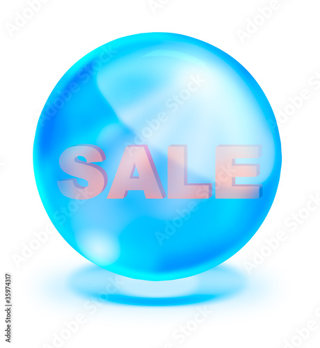 Shiny crystal with sale inside for promotion
