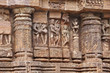Fine carved amative sculptures, Sun temple Konark
