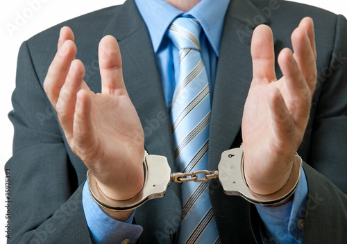 White Collar Criminal Under Arrest
