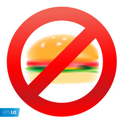 Unhealthy food vector eps10