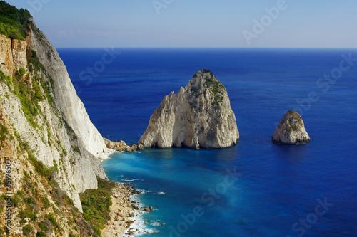 skały przy klifie, grecka wyspa Zakynthos