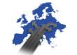Europa *** Karte + Richtungsfeile