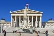 Das Parlament - Wien - mit Pallas-Athene-Brunnen