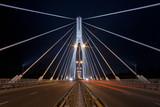 Night view of the new Swietokrzyski Bridge in Warsaw. - 35978580