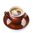Coffee Espresso over White