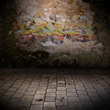 mur grunge - graffiti