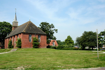 Dutch Reformed Church of  the Dutch village of Zoutkamp