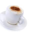 Coffee Cappuccino or Latte over white