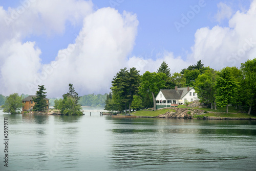 Papiers peints Riviere 1000 islands in St Lawrence River Canada