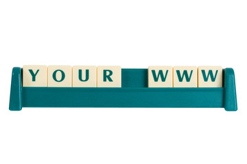 Your www sign made by blocks
