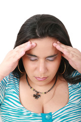suffering from pain - young woman with headache