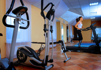 Young women in the fitness center