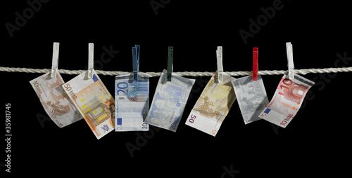 clothesline and money