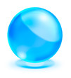 blue crystal ball on white background
