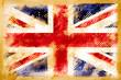 British flag grunge on old vintage paper