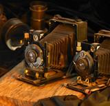 still life with nostalgic cameras poster