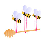 Bees carrying honey dipper
